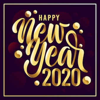 Ano novo fundo dourado