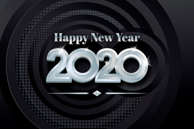 Ano novo fundo prateado
