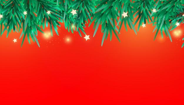 Ano novo ou elementos decorativos de galhos de árvores de natal