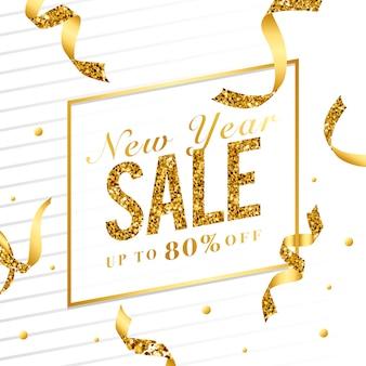 Ano novo venda 80% sinal vector