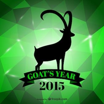 Ano verde do cartão de cabra