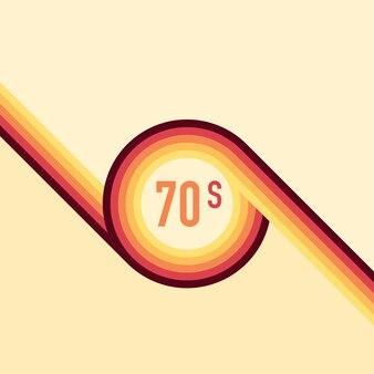 Anos 70, 1970 vetor abstrato estoque linhas retrô de fundo. ilustração vetorial