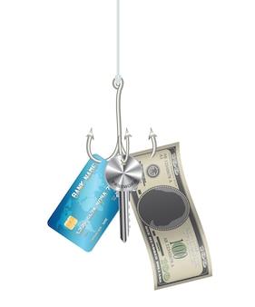 Anotar a senha da chave da senha do cartão de crédito do phishing