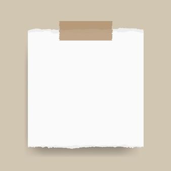 Anotar papel de memorando com fita adesiva copiar espaço ilustração vetorial