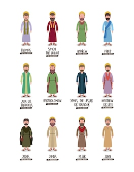 Antecedentes com os doze apóstolos