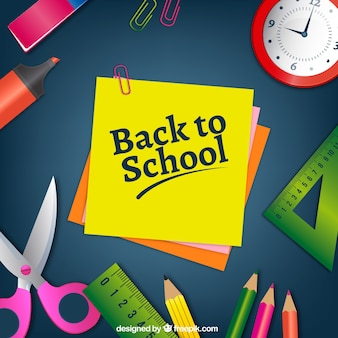Antecedentes com pós e materiais escolares