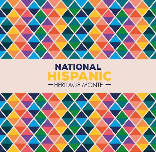Antecedentes, cultura hispânica e latino-americana, mês da herança hispânica nacional em setembro e outubro