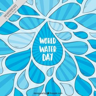 Antecedentes da mão desenhada gotas de água