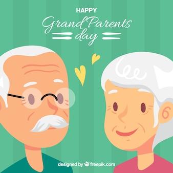 Antecedentes de adoráveis avós apaixonados