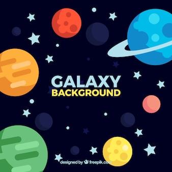 Antecedentes de galáxias em design plano