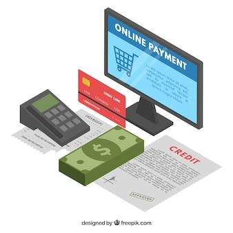 Antecedentes de pagamento on-line