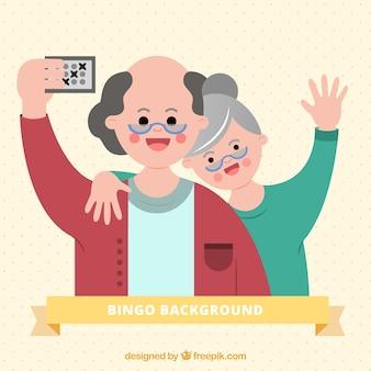 Antecedentes de pessoas mais velhas jogando bingo