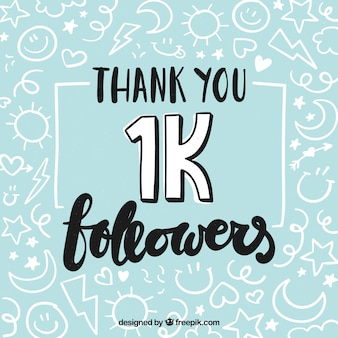 Antecedentes de seguidores de 1k com desenhos