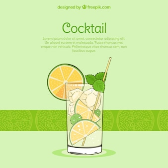 Antecedentes do mojito refrescante