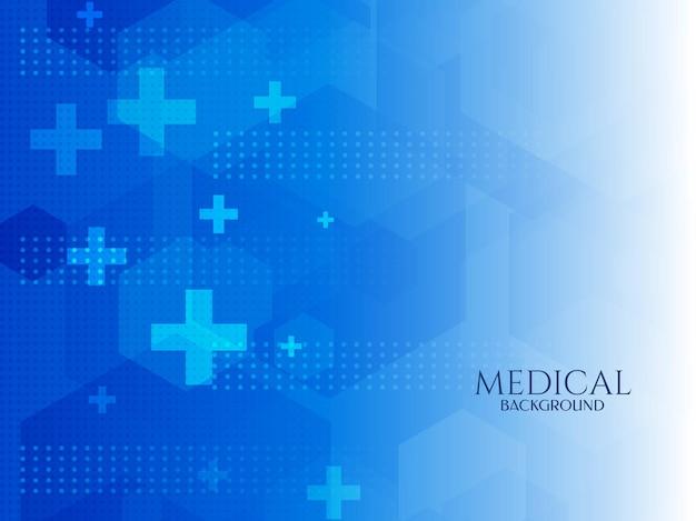 Antecedentes médicos e de saúde modernos em azul
