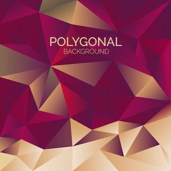 Antecedentes poligonais elegantes
