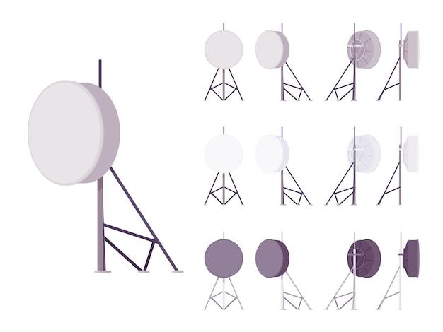 Antena de satélite definida para transmissão