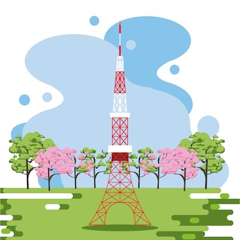 Antena de telecomunicações na natureza
