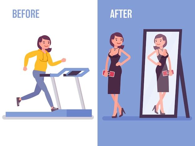 Antes depois da dieta