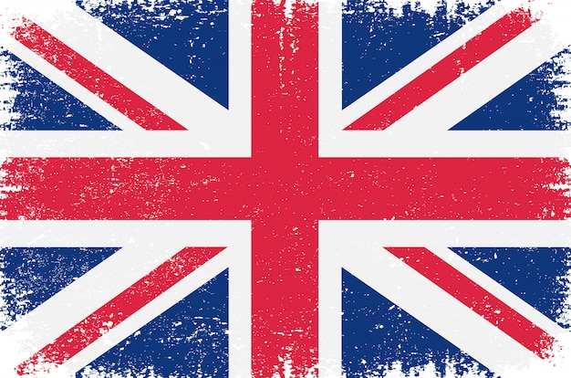Antiga bandeira britânica vintage