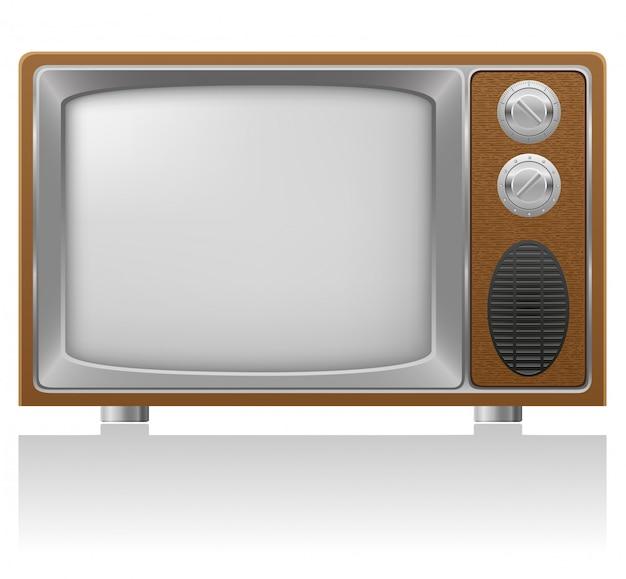 Antiga ilustração em vetor de tv