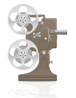 Antiga ilustração em vetor retrô vintage filme filme projetor