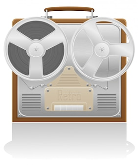 Antiga ilustração vetorial de gravador