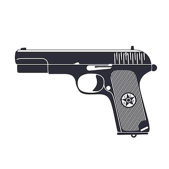 Antiga pistola soviética, clipart de revólver