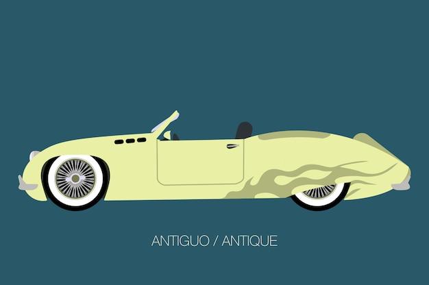Antigo carro clássico da velha escola