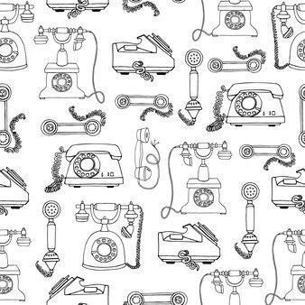 Antigo fundo de telefone vintage.