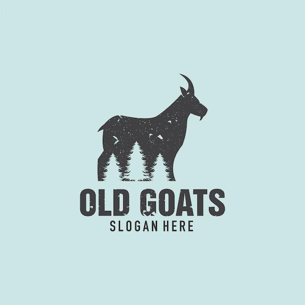 Antigo logotipo de cabra e pinheiro