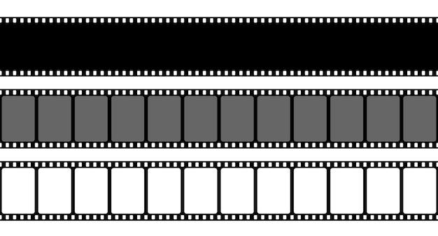 Antigo quadro de tira de filme retrô, filmstrip de cinema.