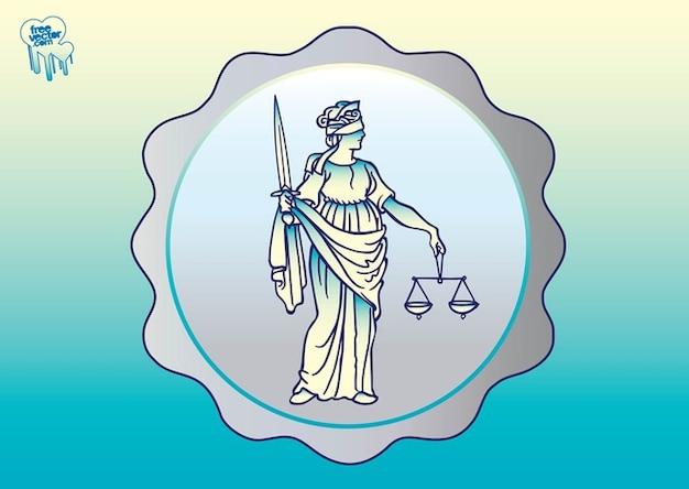 Antigo senhora justitia vetor
