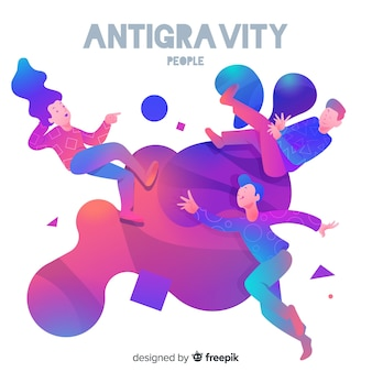 Antigravidade pessoas fundo