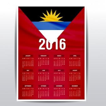Antígua e barbuda calendário de 2016