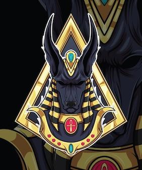 Anúbis deus do design de personagens da mitologia egípcia
