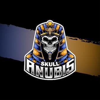 Anúbis do crânio do logotipo esport