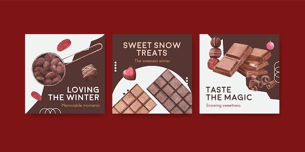 Anuncie modelo com chocolate