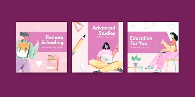 Anuncie modelo com conceito de aprendizagem online