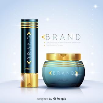 Anúncio cosmético com design realista