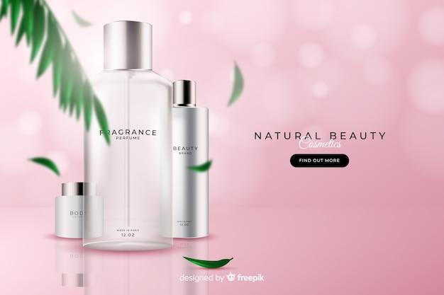 Anúncio cosmético natural realístico