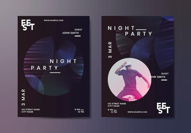 Anúncio da festa do clube nocturno