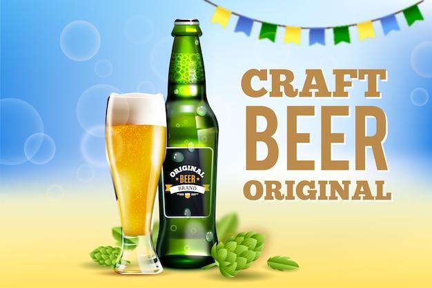 Anúncio de bebida de cerveja artesanal