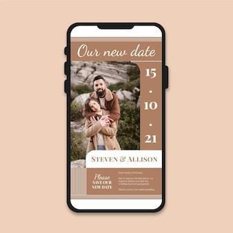 Anúncio de casamento adiado