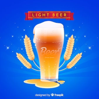 Anúncio de cerveja com design realista