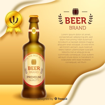 Anúncio de cerveja realista