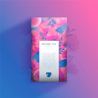 Anúncio de chá com tinta aquarela