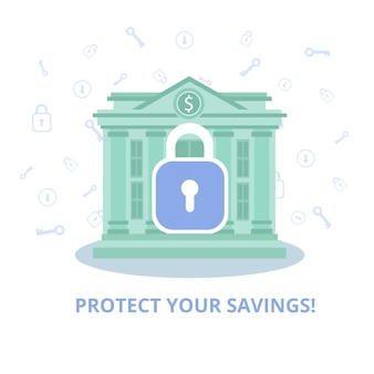 Anúncio de conta financeira de segurança de serviço