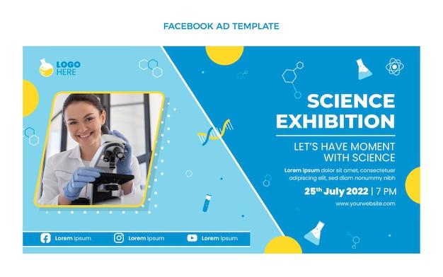 Anúncio de design plano de ciência no facebook