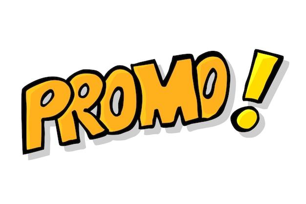 Anúncio de esboço de desenho de mão vetorial, promoção, promoção isolada no branco